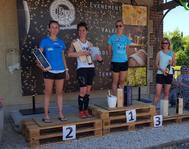 podium 30km : Marie-Christine 3ème féminine