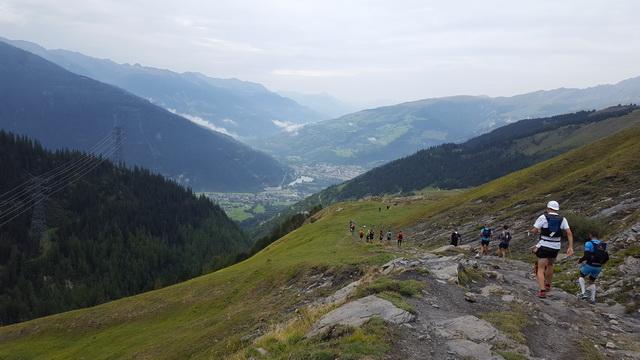 Longue descente vers Bourg St Maurice