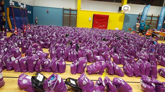 récupération des sacs d'allègement